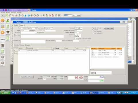 Demo OpenOrange Point Of Sales - Bar