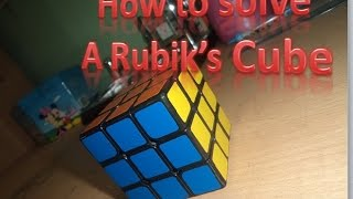 Rubik's cube solving Bangla tutorial :)