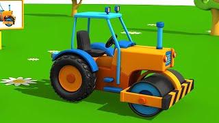 Leo la Troca Curiosa - Aplanadora - Carros para niños