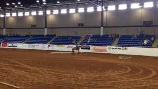 Danielle Cain and The Buckskin Lady Mustang Million 2013