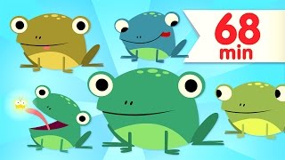 Five Little Speckled Frogs | + More Kids Songs | Super Simple Songs