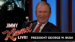 Jimmy Kimmel Asks President George W. Bush to Reveal Government Secrets