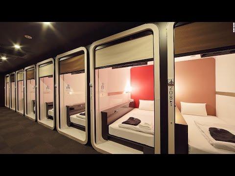 watch Tokyo Japan Capsule Hotel Experience!