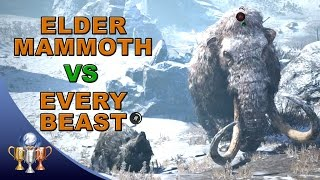 Far Cry Primal Battle Challenge - Can all your tamed Beasts take down one Elder Mammoth?