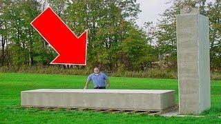 فيديو رهيب: رجل يرفع صخرة تزن 20 طن بيديه !!