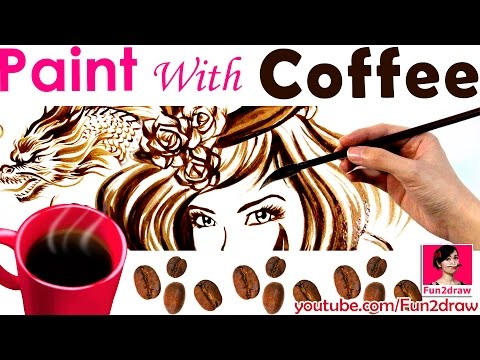 Art challenge painting with coffee Amazing art effects