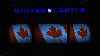 """Moment of silence and """"O Canada"""" in Chicago"""