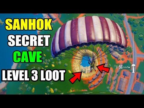 PUBG MOBILE SANHOK SECRETS CAVE LEVEL 3 LOOT LOCATION YOU MISS IT