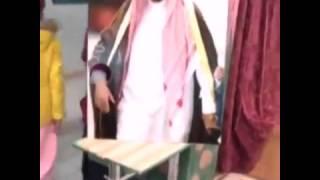 معلمة مدرسه تبتكر طريقة لمبايعة الملك سلمان