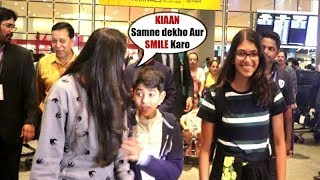 Karisma Kapoor GETS ANGRY On Her Son Kiaan To Pose For Media At Mumbai Airport
