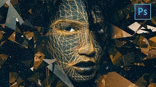 [ Photoshop Tutorial ] Fantasy Manipulation - Face Lines Effects