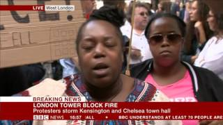 Grenfell Tower Fire: Lady confronts BBC