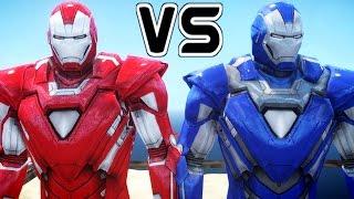 IRON MAN VS IRON MAN - Silver Centurion vs Blue Steel