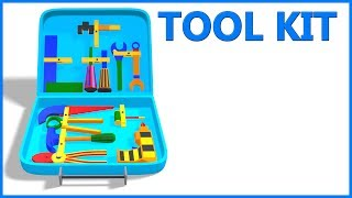 Tool Kit Toy Play Set || Learn Hand Tool Names For Children || Videos And Poems For Kids