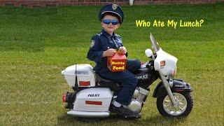 KIDZ MOTORZ Police Motorcycle Kid Cops Little Heroes Who Ate My Lunch Video Parody