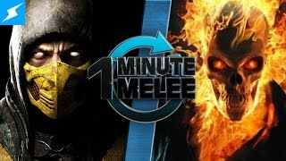 One Minute Melee - Scorpion Vs Ghost Rider (Mortal Kombat vs Marvel)