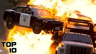 Top 10 Craziest Police Car Chases - Part 2