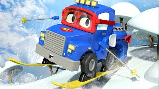 The Ski Truck - Carl the Super Truck in Car City | Children Cartoons with Truck video for Kids