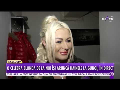 Lenna Horvath, cântăreaţa cu ochi de diamant, își aruncă hainele la gunoi, în direct