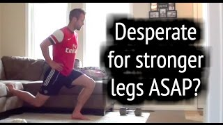 Soccer Workouts ► How To Get Stronger Legs For Soccer At Home