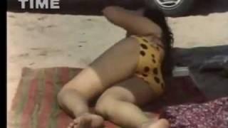 Moonmoon Sen in leopard bikini