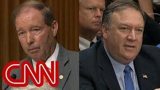 Senator questions Pompeo about Trump