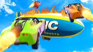 MAKE THE IMPOSSIBLE BLIMP JUMP! (GTA 5 Funny Moments)