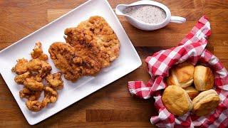 Country-Fried Cauliflower Steaks and Gravy • Tasty