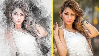 How To Use Abstract Ink Photoshop Action For Portrait | By StudioPk