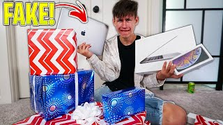 Buying My Brother FAKE PRESENTS For His BIRTHDAY! *Emotional*