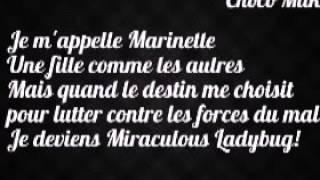 Miraculous Ladybug - Theme song Lyrics (FRENCH VERSION) - Marily & Noam Kaniel