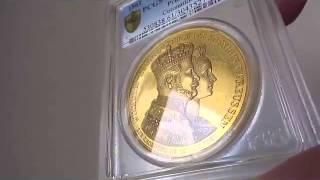 ドイツ12ダカット ゴールドメダル Wilhelm I gold Proof Coronation Medal of 12 Ducats Weight 1861 PR61 Deep Cameo PCG