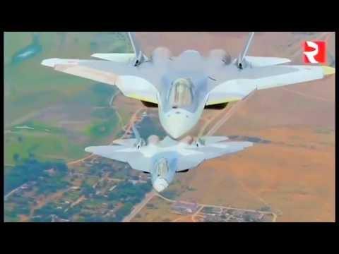 watch Russia MOD - T-50 Pak Fa Stealth Fighters In Flight [1080p]