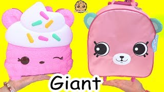 Giant Num Noms Collectors Case + Big Shopkins Petkins + Surprise Blind Bags Video
