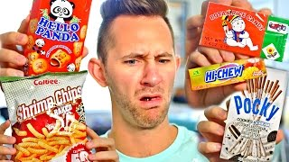 AMERICAN TRIES JAPANESE FOODS
