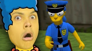 MARGE SIMPSON JOINS THE POLICE !!! (Simpsons Hit and Run)