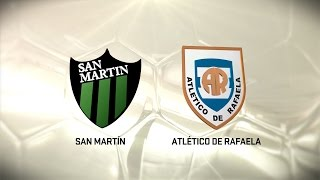 Fútbol en vivo. San Martin SJ - Atl de Rafaela. Fecha 11. Torneo de Primera División 2016/2017. FPT
