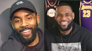 Kyrie Irving Gets Shocked By LeBron James