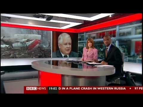 LECH KACZYŃSKI BBC.UK. SMOLEŃSK KATASTROFA SAMOLOTU Tu 154M TU 154 M