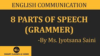 8 parts of speech (grammar) lecture, BA, MA by Jyotsna Saini
