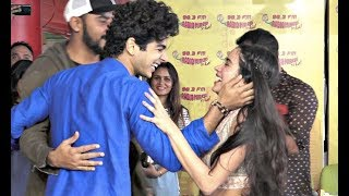 Ishaan Khatter Flirts With Jhanvi Kapoor Publicly At Zingat Song Launch | Dhadak