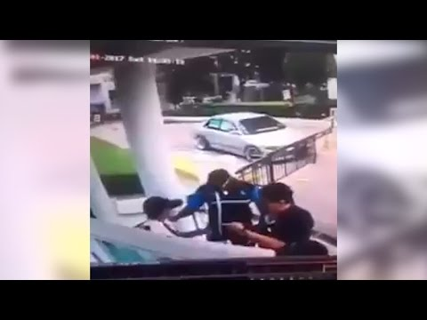 CCTV footage emerges of men roughing up condo security guard