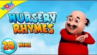 Motu Patlu with Clap Your Hands and Many More Nursery Rhymes Collection | WowKidzjr