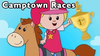 Camptown Races and More | Fast Horse Race Song | Baby Songs from Mother Goose Club!