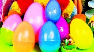 Plastic Surprise Eggs Spiderman Disney Pixar Cars 2 Squinkies Dinosaur eggs