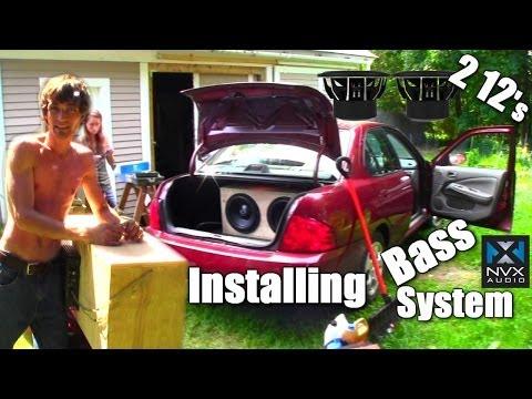 Sister EXO s Car Audio Installation False Floor Big Three Upgrade Output Converter & 2 NVX Subs