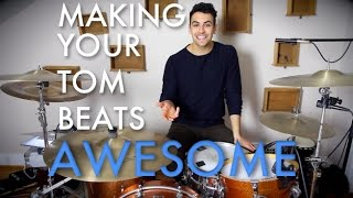 Making Tom Beats Awesome - Beginner Drum Lesson | Drum Beats Online