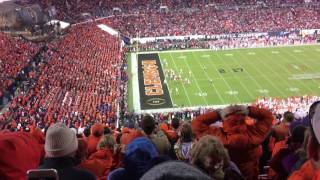 Clemson vs Alabama - 2017 Stadium reaction to winning touchdown