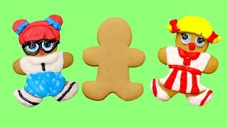Gingerbread LOL dolls ! Toys and Dolls Pretend Play for Kids with Hairgoals | SWTAD