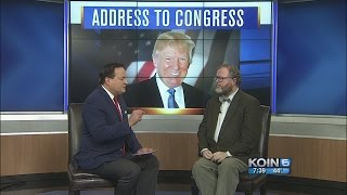 Political analyst Jim Moore on President Trump's first address to Congress